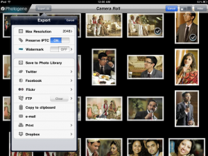 Photogene exporting options and photo organizer.