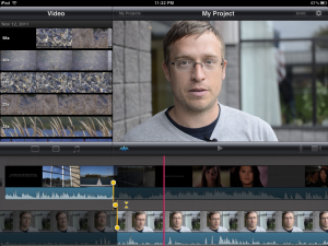iMovie for the iPad - looks great, but editing is a pain. It does finally take DSLR video though - as the above footage was shot on a Nikon D7000 (with an awesome 35mm 1.8 lens).