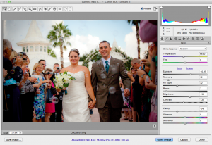 Here's what a RAW photo looks like when you double click - you open up an extra set of editing options in Camera Raw.